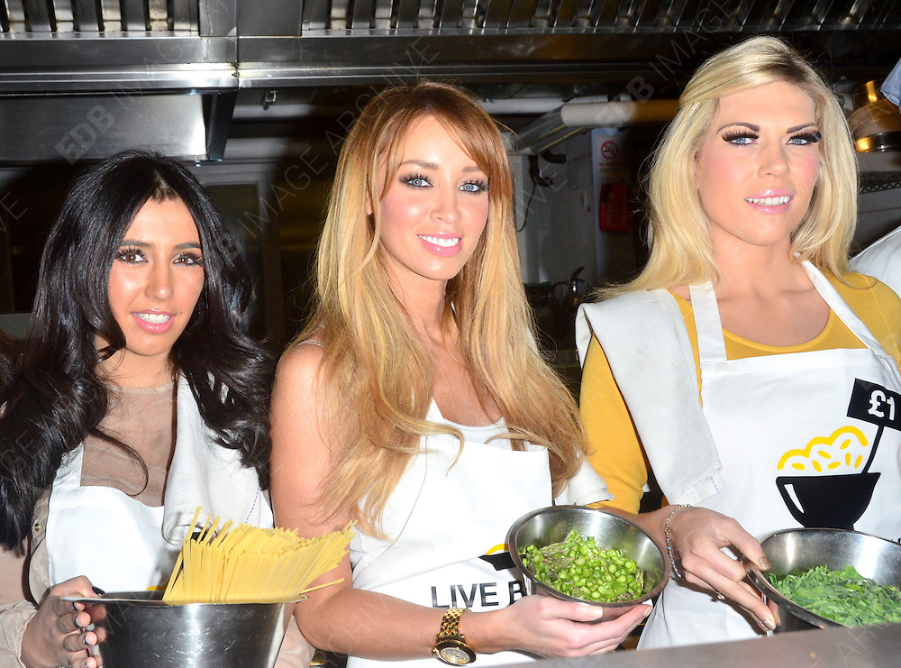 05.MARCH.2012. LONDON<br /> <br /> TOWIE CAST COMPETE IN POVERTY CHARITY COOK OFF CHALLENGE<br /> <br /> BYLINE: EDBIMAGEARCHIVE.COM<br /> <br /> *THIS IMAGE IS STRICTLY FOR UK NEWSPAPERS AND MAGAZINES ONLY*<br /> *FOR WORLD WIDE SALES AND WEB USE PLEASE CONTACT EDBIMAGEARCHIVE - 0208 954 5968*