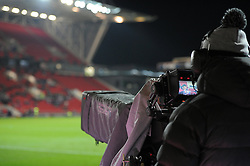 BT Sport camera at Ashton Gate for Anglo Welsh Cup rugby - Mandatory by-line: Paul Knight/JMP - 11/11/2016 - RUGBY - Ashton Gate - Bristol, England - Bristol Rugby v Sale Sharks - Anglo Welsh Cup