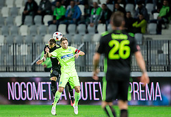 Aljaz Krefl of NK Olimpija vs Matej Pucko of FC Koper during football match between FC Luka Koper and NK Olimpija Ljubljana in Round #16 of Prva liga Telekom Slovenije 2016/17, on November 6, 2016 in Stadium Bonifika, Koper/ Capodistria, Slovenia. Photo by Vid Ponikvar / Sportida