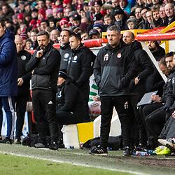 Aberdeen v Celtic, SPrem, 25th February 2018<br /> <br /> Aberdeen v Celtic, SPrem, 25th February 2018 &copy; Scott Cameron Baxter | SportPix.org.uk<br /> <br /> Derek McInnes look on at his players.