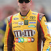 NASCAR Sprint Cup driver Kyle Busch (18) is seen in the pits during the practice session prior to the NASCAR Sprint Unlimited Race at Daytona International Speedway on Saturday, February 16, 2013 in Daytona Beach, Florida.  (AP Photo/Alex Menendez)