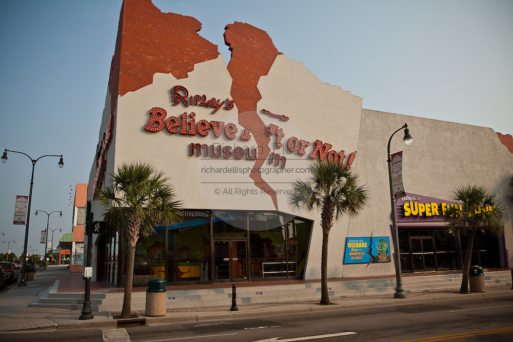 Tourist attraction Ripley's Believe it or Not on the boardwalk along the beachfront in Myrtle Beach, SC.