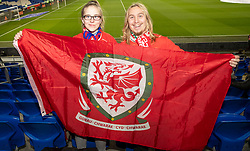 CARDIFF, WALES - Tuesday, November 19, 2019: Wales spectators ahead of the final UEFA Euro 2020 Qualifying Group E match between Wales and Hungary at the Cardiff City Stadium. (Pic by Laura Malkin/Propaganda)