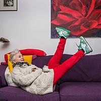 Nederland, Amsterdam, 25 oktober 2017.<br /> Musicalactrice Doris Baaten. Ze speelt zowel in de nieuwe musical Fiddler on the Roof als Annie M.G. Schmidt.<br /> <br /> <br /> <br /> Foto: Jean-Pierre Jans