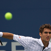 Marin Cilic, Croatia, in action against Juan Martin Del Potro, Argentina,  during the US Open Tennis Tournament at Flushing Meadows, New York, USA, on Thursday, September 10, 2009. Photo Tim Clayton