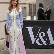 Olga Vilshenko is a designer arrives at V&A - summer party, on 19 June 2019, London, UK