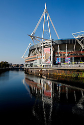General View outside the Millennium Stadium - Mandatory byline: Rogan Thomson/JMP - 07966 386802 - 02/10/2015 - RUGBY UNION - Millennium Stadium - Cardiff, Wales - New Zealand v Georgia - Rugby World Cup 2015 Pool C.