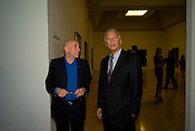 Brian Clarke; Larry Gagosian, Francis Bacon opening private view and dinner. Tate Britain. 8 September 2008 *** Local Caption *** -DO NOT ARCHIVE-© Copyright Photograph by Dafydd Jones. 248 Clapham Rd. London SW9 0PZ. Tel 0207 820 0771. www.dafjones.com.