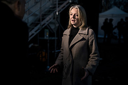© Licensed to London News Pictures. 12/12/2018. London, UK. Chief Secretary to the Treasury Elizabeth Truss on College Green to give interviews to the media. Prime Minister Theresa May faces a vote of no confidence from her own party this evening. Photo credit: Rob Pinney/LNP