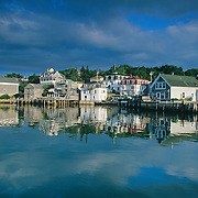 Morning reflections in the harbor. Stonington, Maine