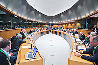 BRUSSEL- GOLF- Overzicht vergaderzaal  during EGA Golf Course Committee Exhibition of Golf at European Parliament.  FOTO KOEN SUYK