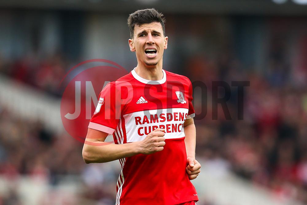 Daniel Ayala of Middlesbrough - Mandatory by-line: Robbie Stephenson/JMP - 12/05/2018 - FOOTBALL - Riverside Stadium - Middlesbrough, England - Middlesbrough v Aston Villa - Sky Bet Championship