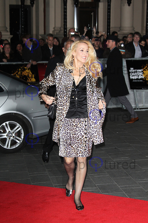 LONDON - OCTOBER 18: Jerry Hall attended the screening of 'Crossfire Hurricane' at the Odeon, Leicester Square, London, UK. October 18, 2012. (Photo by Richard Goldschmidt)