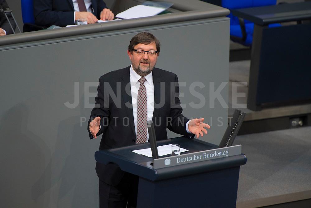 DEU, Deutschland, Germany, Berlin, 15.03.2018: Andreas Gottfried Lämmel (CDU) bei einer Rede im Deutschen Bundestag.