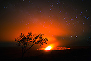 Milky Way, Halemaumau Crater, Kilauea Volcano, HVNP, Hawaii Volcanoes National Park, The Big Island of Hawaii