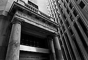 Exterior of the New York Stock Exchange. New York NY.