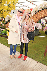 Left to right, LEAH WOOD and her mother JO WOOD at the 2012 RHS Chelsea Flower Show held at Royal Hospital Chelsea, London on 21st May 2012.