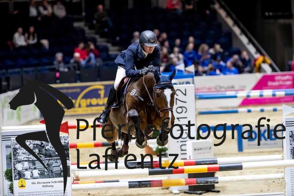 HOFFMANN Tim-Uwe (GER), Spectre H<br /> Braunschweig - Löwenclassics 2019<br /> Finale Youngster Tour für 7+8 jährige Pferde<br /> 24. März 2019<br /> © www.sportfotos-lafrentz.de/Stefan Lafrentz
