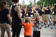 Allen Band March-A-Thon at Allen High School on August 13, 2016.