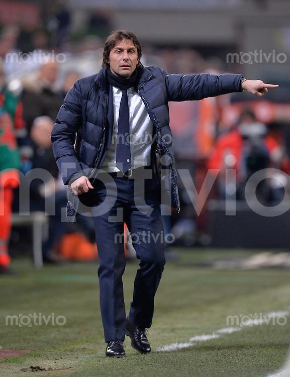 FUSSBALL INTERNATIONAL   SERIE A   26. Spieltag   SAISON 2013/2014 AC Mailand - Juventus Turin    02.03.2014 Trainer Antonio Conte (Juventus Turin)