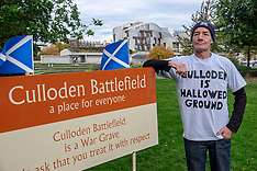 Culloden Protest at Scottish Parliament, Edinburgh, 1 October 2018