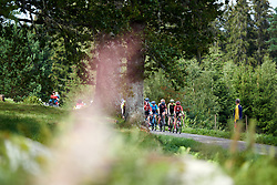 The leaders approach during Postnord UCI WWT Vårgårda WestSweden Road Race, a 145.3 km road race in Vårgårda, Sweden on August 18, 2019. Photo by Sean Robinson/velofocus.com