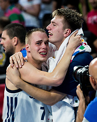 Klemen Prepelic of Slovenia and Luka Doncic of Slovenia during the Final basketball match between National Teams  Slovenia and Serbia at Day 18 of the FIBA EuroBasket 2017 at Sinan Erdem Dome in Istanbul, Turkey on September 17, 2017. Photo by Vid Ponikvar / Sportida