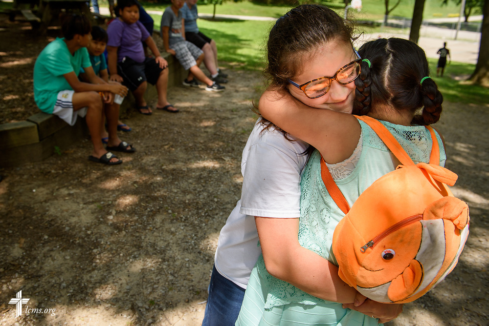 All Nations Outreach with campers from Alive In Christ Lutheran Church, Columbia, Mo., on Tuesday, July 18, 2017, at Camp Lutherhaven in Albion, Ind. LCMS Communications/Erik M. Lunsford