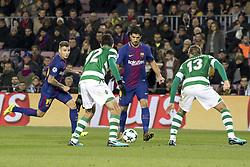 December 5, 2017 - Barcelona, Catalonia, Spain - Luis Suarez during the UEFA Champions League match between FC Barcelona and Sporting CP Lisboa at the Camp Nou Stadium in Barcelona, Catalonia, Spain on December 5,2017  (Credit Image: © Miquel Llop/NurPhoto via ZUMA Press)