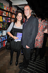 ANGUS DEAYTON and LISE MEYER at a party to celebrate the publication of 'A Matter of Life and Death' by Ronni Ancona and Alistair McGowan held at Daunt Books, 83 Marylebone High Street, London on 8th October 2009.