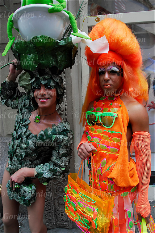 Transvestites at the Gay and Lesbian pride parade