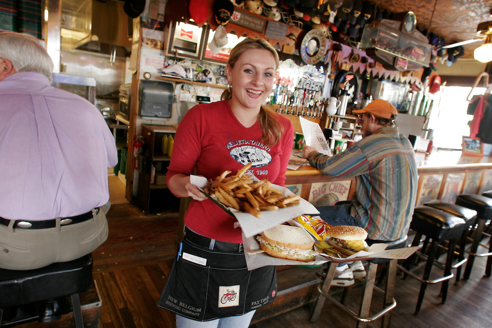 Helvetia Tavern in Portland Oregon is famous for their burgers.