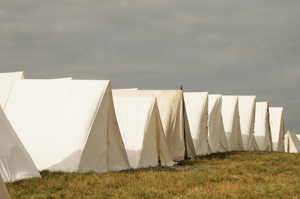 White Tents in Row