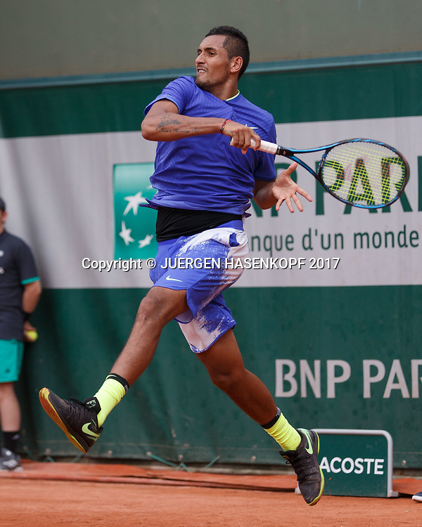 NICK KYRGIOS (AUS)<br /> <br /> Tennis - French Open 2017 - Grand Slam ATP / WTA -  Roland Garros - Paris -  - France  - 30 May 2017.