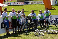 Slovenian youth team at MTB Downhill European Championships, on June 14, 2009, at Kranjska Gora, Slovenia. (Photo by Vid Ponikvar / Sportida)
