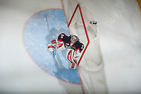KELOWNA, CANADA - JANUARY 3: Ty Edmonds #35 of Prince George Cougars defends the net against the Kelowna Rockets on January 3, 2015 at Prospera Place in Kelowna, British Columbia, Canada.  (Photo by Marissa Baecker/Shoot the Breeze)  *** Local Caption *** Ty Edmonds;