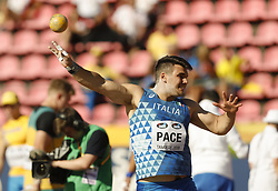 July 10, 2018 - Tampere, Suomi Finland - 180710 Friidrott, Junior-VM, Dag 1: Alessandro Pace ITA competes in Shot Put during the IAAF World U20 Championships day 1 at the Ratina stadion 10. July 2018 in Tampere, Finland. (Newspix24/Kalle Parkkinen) (Credit Image: © Kalle Parkkinen/Bildbyran via ZUMA Press)