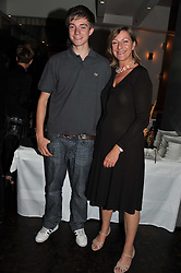 JACK PRINCE and his mother ROSE PRINCE at a party to celebrate the publication of 'Made In Sicily' by Giorgio Locatelli at Locanda Locatelli, Seymour Street, London on 4th October 2011.
