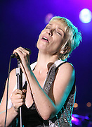 ANNIE LENNOX SINGS FOR A BBC RADIO TWO CONCERT AT LONDONS MERMAID THEATRE TO BE BROADCAST AT 8PM ON THE 25TH AUGUST 2007.PIX STEVE BUTLER