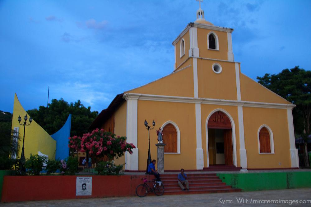 Central America, Nicaragua, San Juan del Sur. San Juan Bautista Church.
