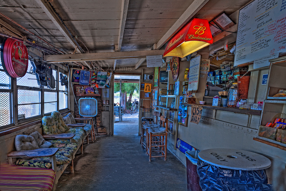 Grab a seat and watch the customers come in to buy bait, coffee and everything else they sell at the Nokomis Fishcamp at the south end of Casey Key.