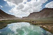 Picknickers at Band-e-Amir National Park.