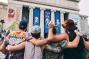 Fans wait to enter Soldier Field for the last night of the Grateful Dead's Fare Thee Well tour in Chicago.