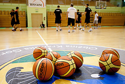 during practice session of Slovenian National Basketball team during training camp for Eurobasket Lithuania 2011, on July 12, 2011, in Arena Vitranc, Kranjska Gora, Slovenia. (Photo by Vid Ponikvar / Sportida)