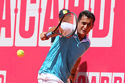 May 2, 2017 - Estoril, Estoril, Portugal - NICOLAS ALMAGRO from SPAIN in action during the match Nicolas Almagro between Benoit Paire for Millennium Estoril Open at Clube de Tenis do Estoril on May 2, 2017 in Estoril, Portugal. (Credit Image: © Dpi/NurPhoto via ZUMA Press)