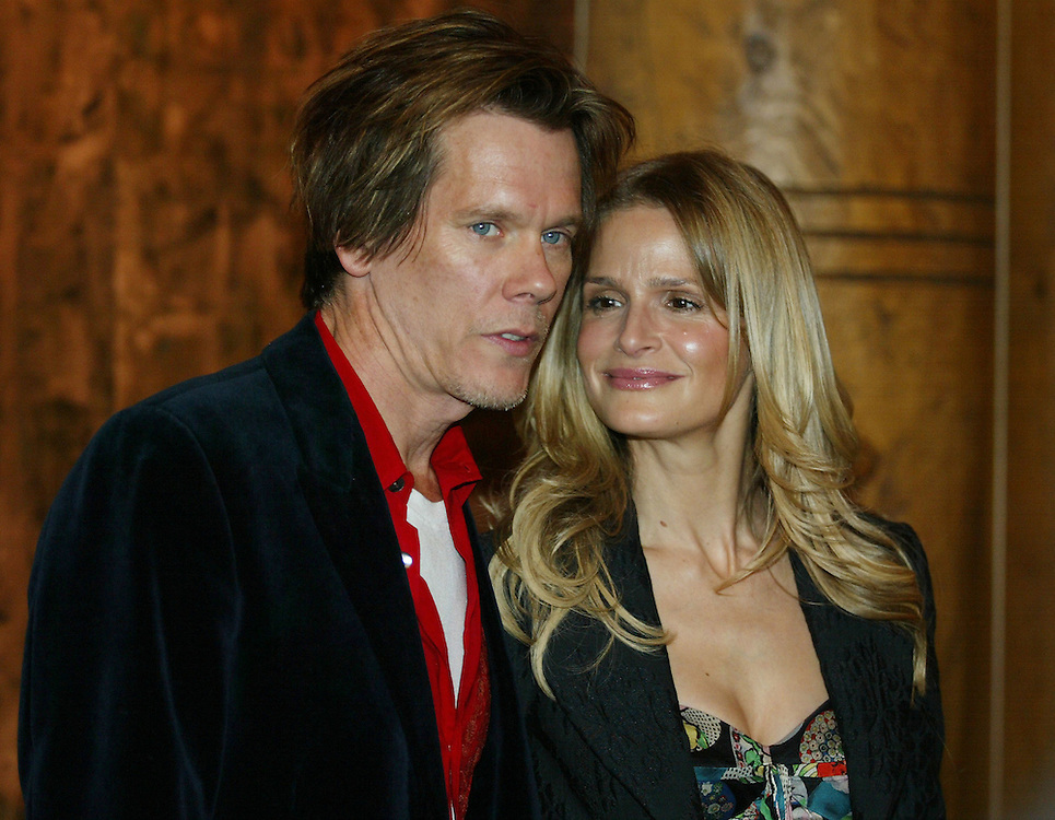 Kevin Bacon and wife Kyra Sedgwick and other celebrities and fans arrive for the Ray Ban Visionary award which was presented to actor Kevin Bacon at Stein Eriksen Lodge on the fourth day of the Sundance Film Festival Sunday, Jan. 23, 2005 in Park City, Utah. August Miller/ Deseret Morning News DIGITAL PHOTOGRAPH