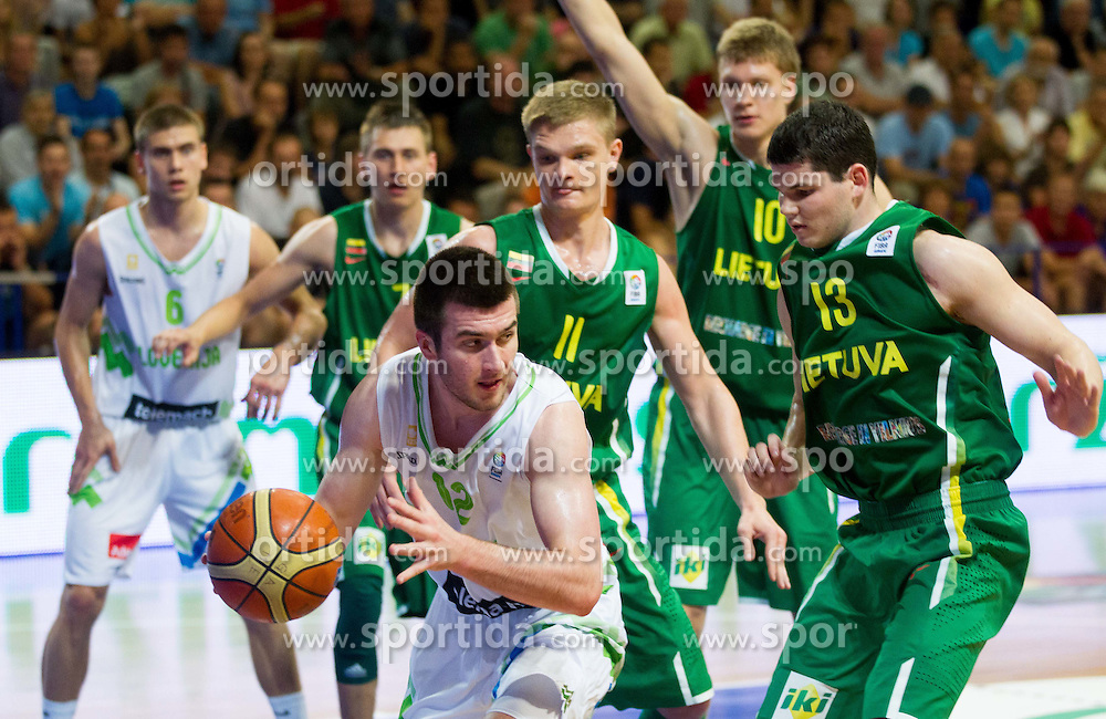 Marko Pajic of Slovenia during basketball match between National teams of Slovenia and Lithuania in First Round of U20 Men European Championship Slovenia 2012, on July 14, 2012 in Domzale, Slovenia.  (Photo by Vid Ponikvar / Sportida.com)