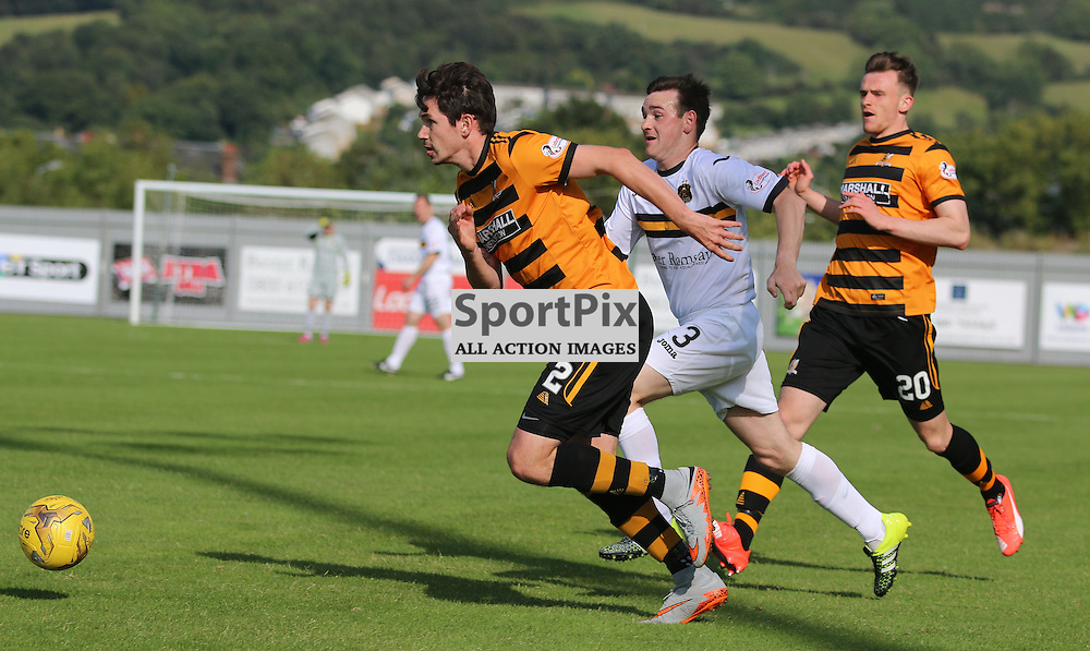 Mark Docherty tries to break forward  during the Dumbarton FC v Alloa FC Scottish Championship 5th September 2015 <br /> <br /> (c) Andy Scott | SportPix.org.uk