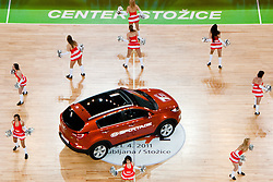 Cheerleaders Ice Ladies and car Kia Sportage during final match of Basketball NLB League at Final Four tournament between KK Union Olimpija (SLO) and Partizan Belgrade (SRB), on April 21, 2011 at SRC Stozice, Ljubljana, Slovenia. (Photo By Matic Klansek Velej / Sportida.com)