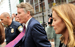 Felicity Huffman seen going to Boston Courthouse to plead guilty in the College Admission Scandal. 13 May 2019 Pictured: Felicity Huffman. Photo credit: KAT / MEGA TheMegaAgency.com +1 888 505 6342